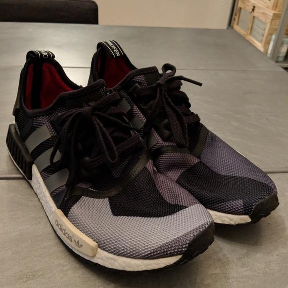 061ab4feeb2e3 adidas Shoes | Nmd R1 Geometric Black Camo Size 95 In Men | Poshmark